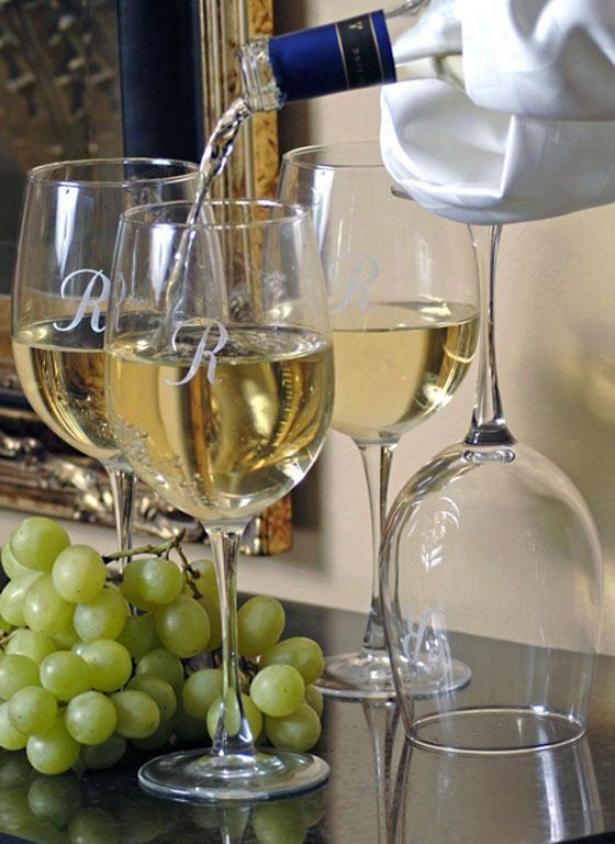 Monogram Wine Glqsses - Set Of 4 - White, R