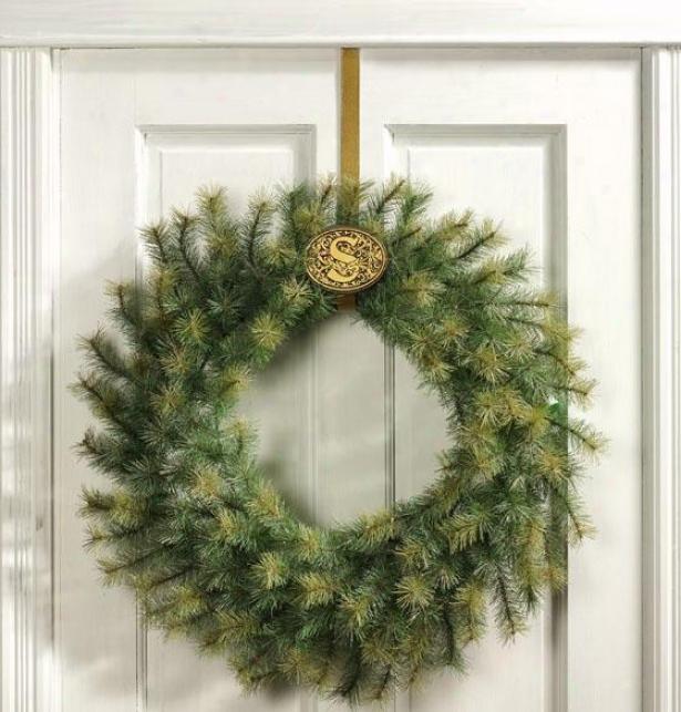 """""""monogrammed Wreath Holder - 3.75""""""""hx4.75""""""""w, Bronze"""""""