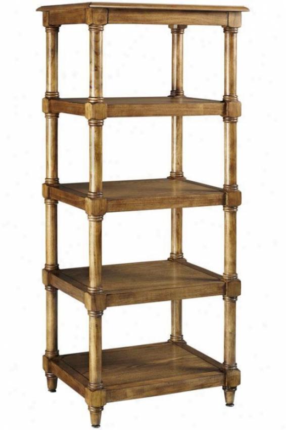 """montaigne Linen Tower-  56.5""""hx23.5""""w, Brown Oak"""