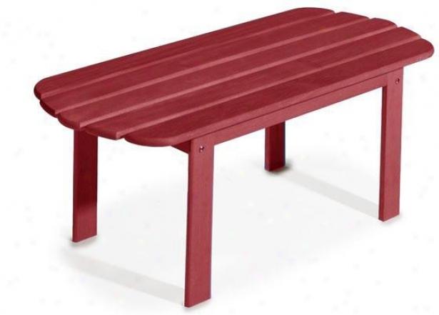 """montauk Adirondack-style Cocktail Table - 15""""hx40""""w, Red"""