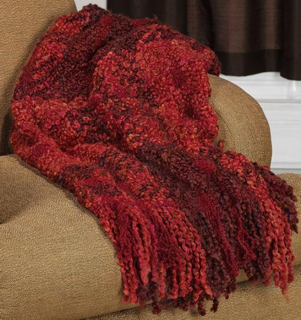 Montauk Throw - 45x70, Red