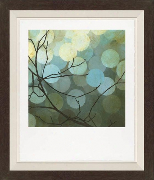 Moonshade I Wall Art - Black Frame, Blue