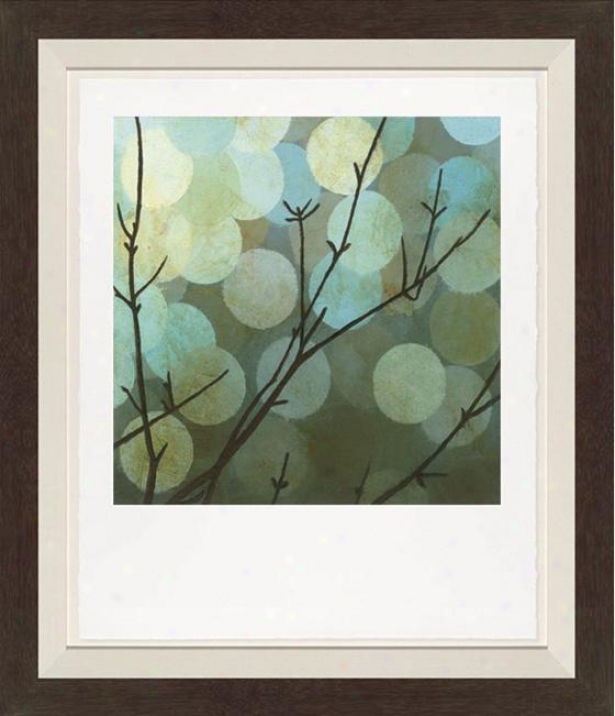 Moonshade Ii Walll Art - Black Frame, Blue