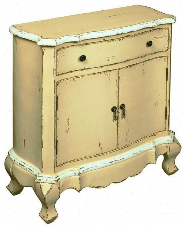 """moorsville Painted Cabinet - 33.5""""hx31""""w, Yellow"""