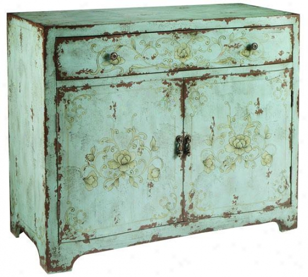 """morgan Cabinet - 35""""hx40""""w, Blue"""