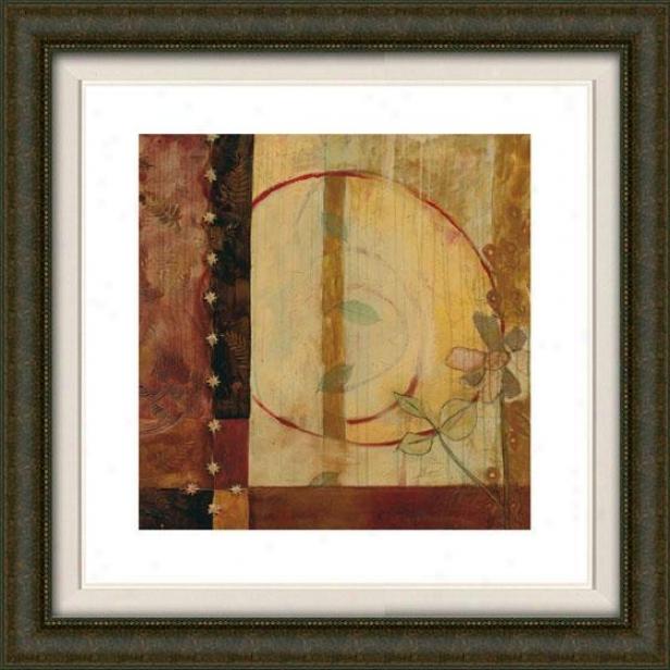"""motning Rain Framed Wall Art - 32""""hx32""""w, Fltd Burlwood"""