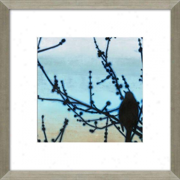 Morning Song Iii Framed Wall Art - Iii, Matted Silver