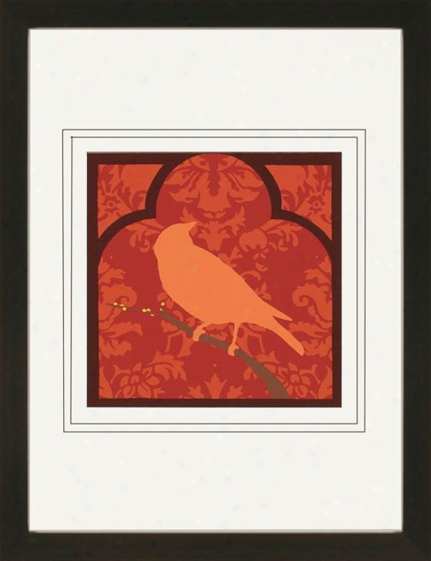 Modoccan Songbird Framed Art Print - Ii, Red