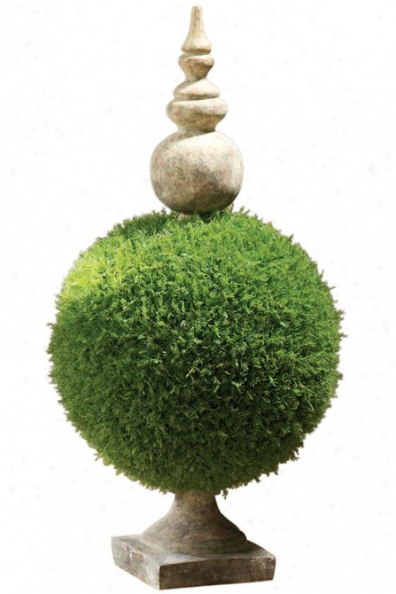"""moss Sphere Topiary Ii - 32""""h, Flourishing"""