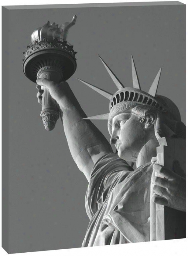 Mother Liberty Wall Art - 48hx36wx1.5, Mourning And White