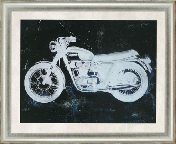 """moto Wall Art - 37""""hx45""""w, Black"""