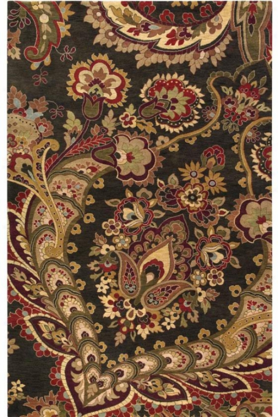 Moulin Area Rug - 8'x11', Coffee Brown