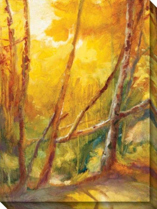 Mountain Memories Ii Canvas Wall Art - Ii, Yellow