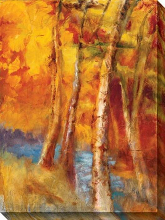 Mountain Memories Iii Canvas Wal1 Art - Iii, Yellow