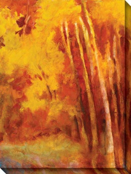 Mountain Memories Iv Canvas Wall Art - Iv, Yellow