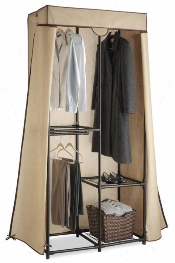 """multi-hang Clothes Closet - 79""""hx36""""wx20""""d, Beige"""