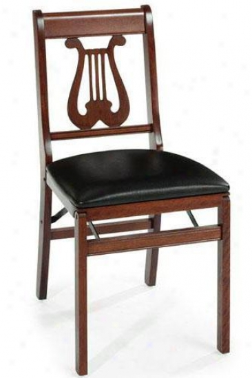 Music Folding Chair - Set Of Two - Cherry, Black