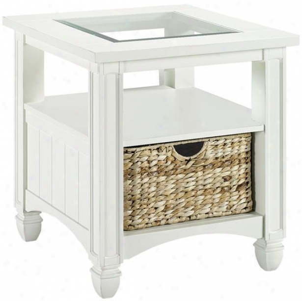 Nantucket Side End Table  -End, Pure