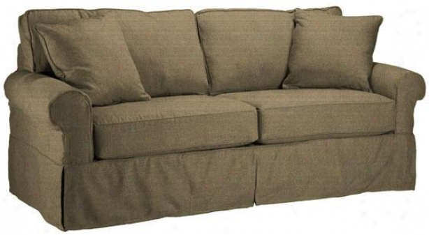 Nantucket Slipcover 2-seater Sofa - Slpcvr Sleeper, Text Solid Tan