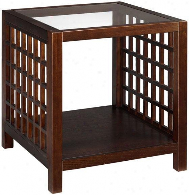 Narita Side End Table - End, Brown
