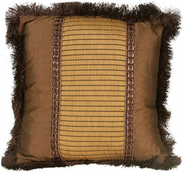 """natalie Pillow - 18"" Square, Brown"""