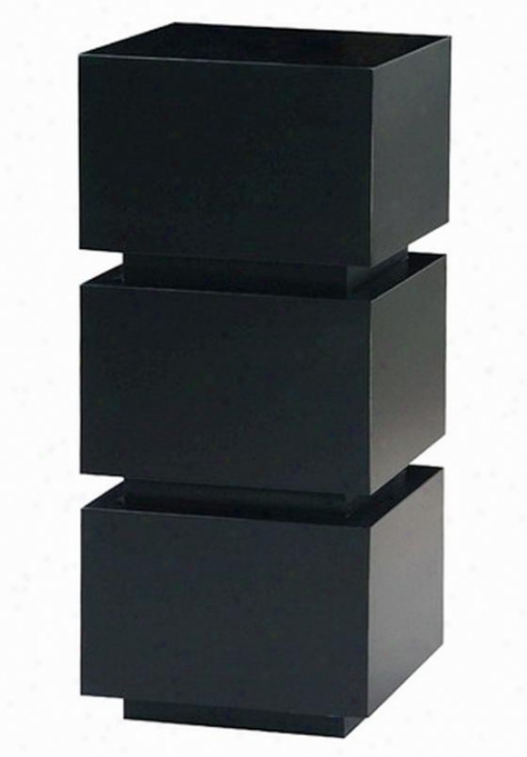 """nathan Pedestal - 32""""hx16""""sq, Black"""