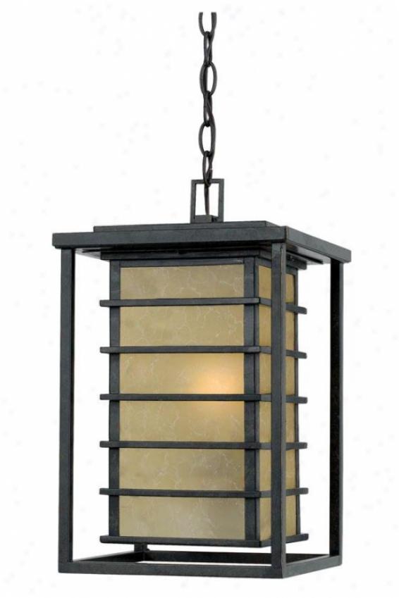 """""""nathwniel Exterior Hanging Lantern - 16.5""""""""h, Gold Bronze"""""""