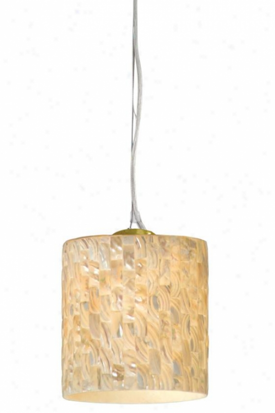 Naturals Aircraft Cable Pendant - Aircraft Cable, Gold Dust