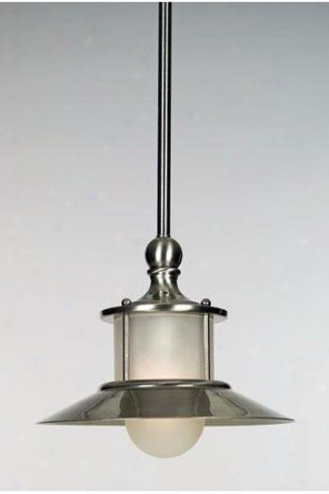 """""""nautical Piccolo Pendant - 47.5""""""""hx9.5""""""""d, Sllver Nickel"""""""