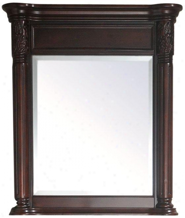 """naylor Mirror - 32""""hx28""""w, Brick Red"""