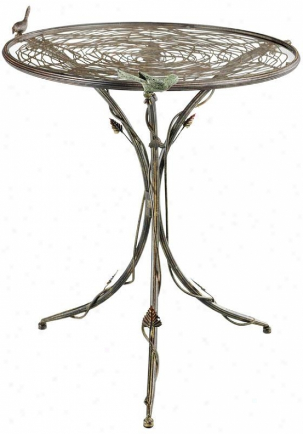 """""""nest Accent Side Table - 31.5""""""""hx29""""""""d, Muted Rust/glss"""""""