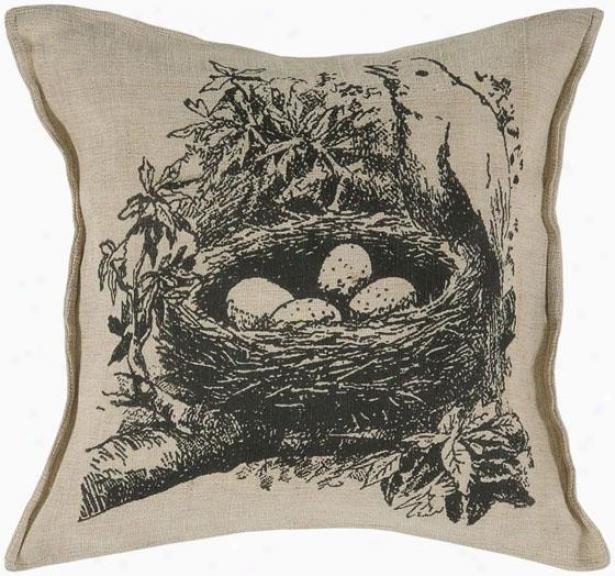 """nest Pillow - 18""""square, Black"""