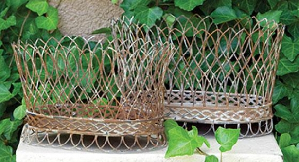 Nested Wire French Baskets - Set Of 2 - Set Of Two, Aged Rust