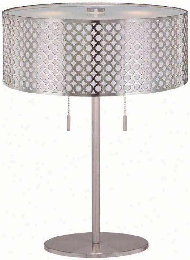 """netto Table Lamp - 16""""x22.25"""", Silver"""
