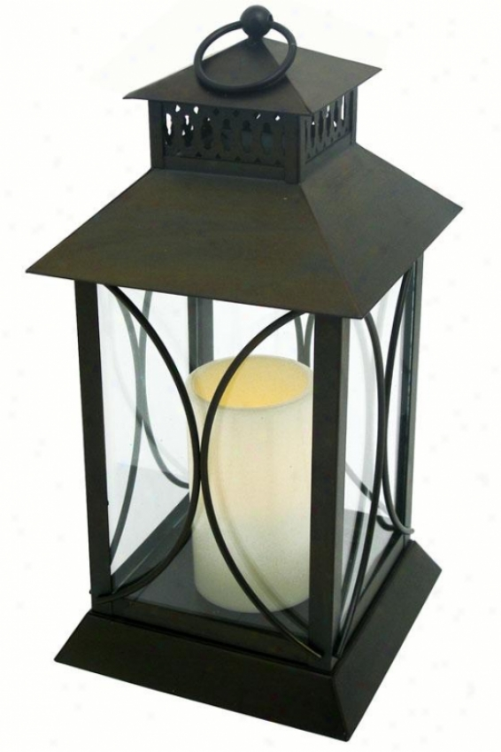 """neuporte Flameess Candle Lantern - 15""""h X 7""""w X 7d, Oil Rub Bronze"""