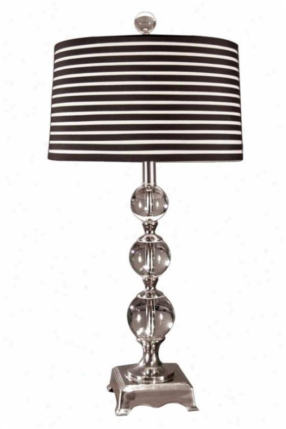 """""""neville Table Lamp - 29h X 14""""""""d, Steel Gray Chrome"""""""