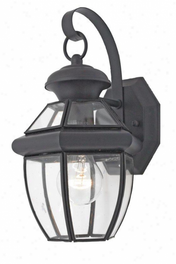 """newbury 1-light 12.5""""h Outdoor Wall Lantern - Small/1-light, Black"""