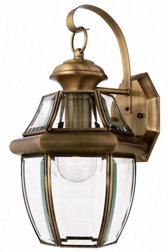 """newbury 1-light 14""""h Outdoor Wall Lantern - Medium/1-litht, Copper Brass"""