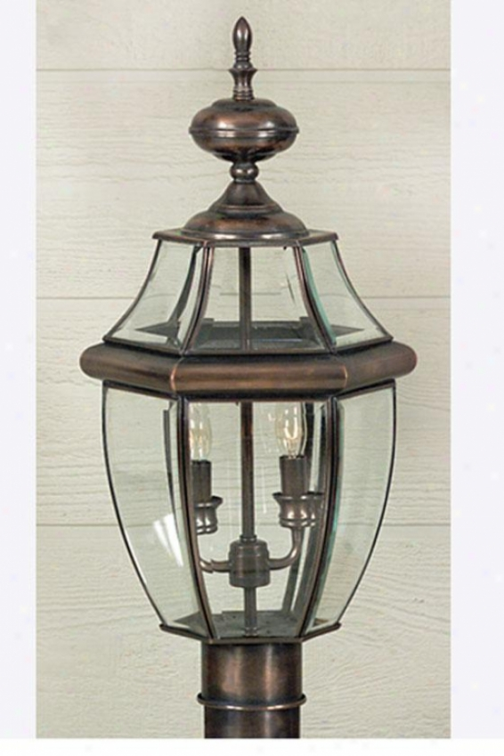 Newbury 2-light Outdoor Post Lantern - 2-light, Copper Copper