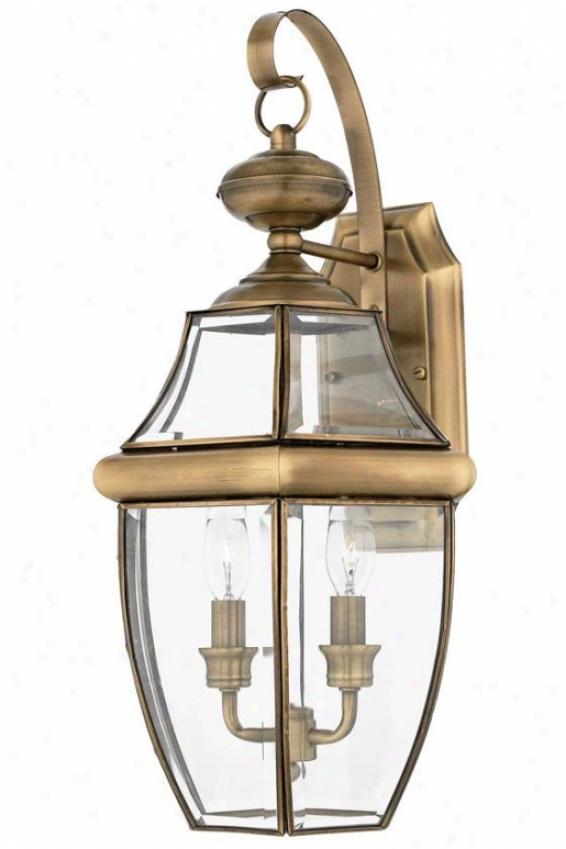 Newbury 2-light Outdoor Wall Lantern - Large/2-light, Copper Brass