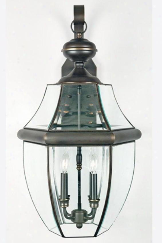 """newbury 4-light 29""""h Outdoor Hanging Lantern - 4-light/exlarge, Brown"""