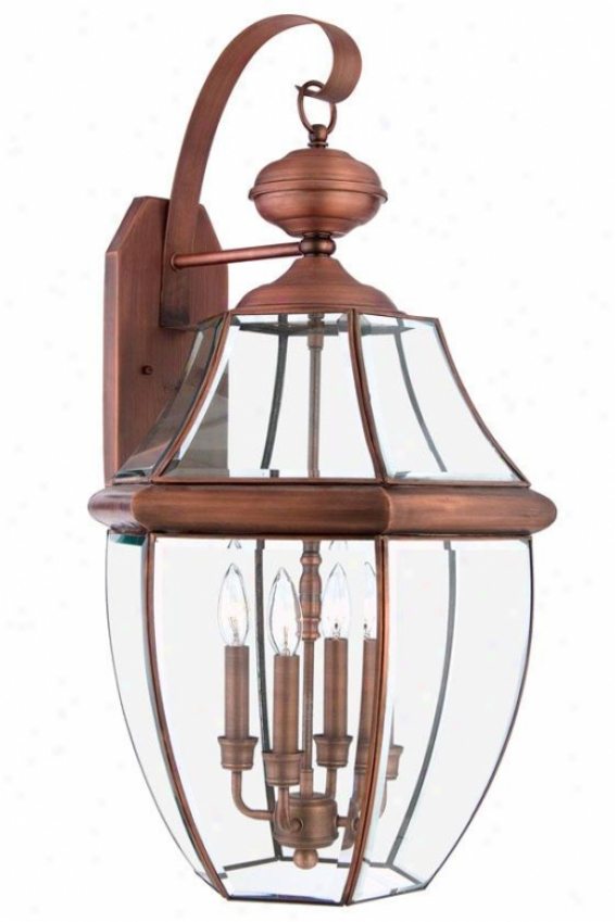 Newbury 4-light Outdoor Wall Lantern - Xlarge/4-light, Copper Copper