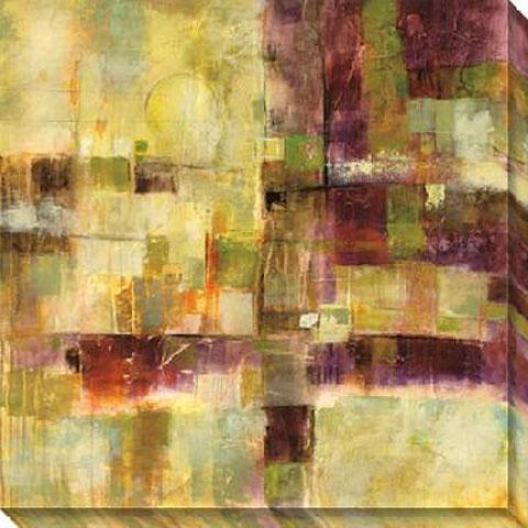 Next Exit I Canvas Wall Art - I, Gold