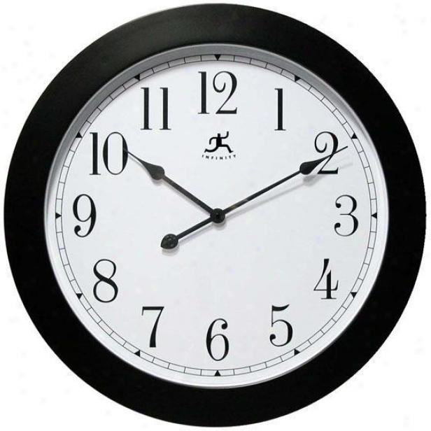 """nexus Wall Clock - 26""""d ,White"""