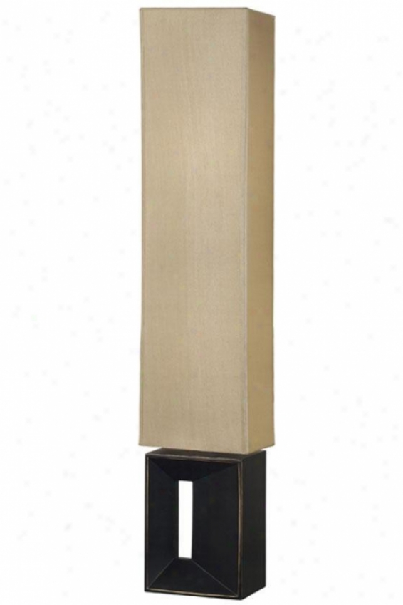 Niche Floor Lamp  In the opinion of Amber Shade - Amber Rectanglr, Copper Bronze