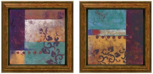 Night Thoughts Framed Wall Art - Set Of 2 - Set Of Two, Purple