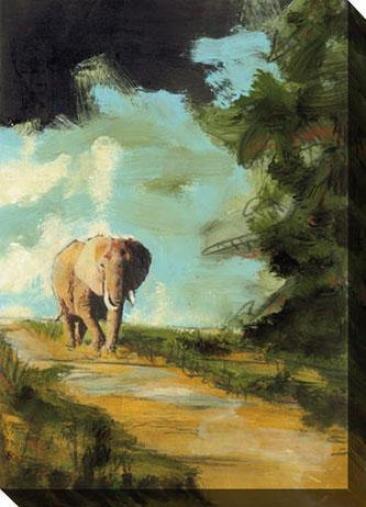 Nightfall Among The Elephants Iii Canvas Wall Practical knowledge - Iii, Blue