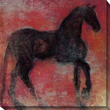Nonius I Canvas Wall Art - I, Red