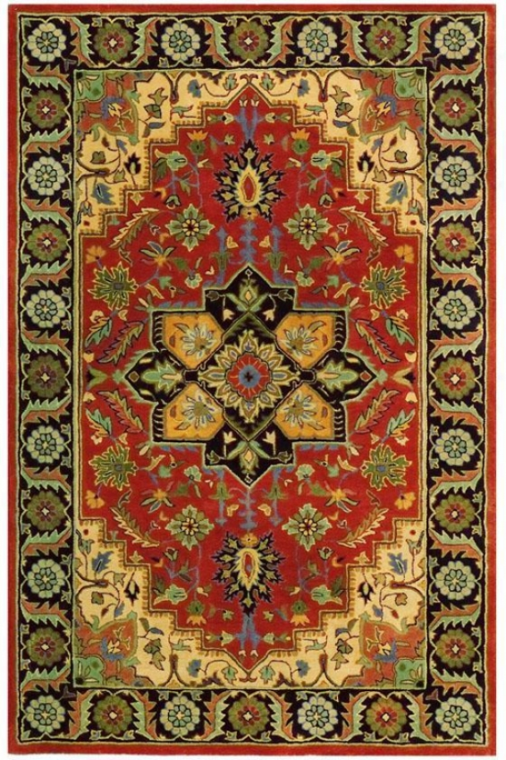 """normandie Area Rug - 7'9"""" Round, Pumpkin"""