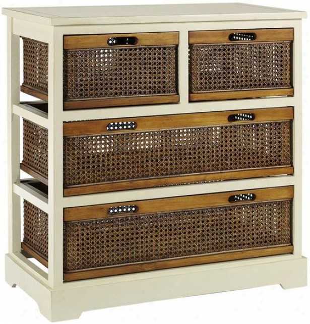 Normandy Double Chest - 4-drawer, White